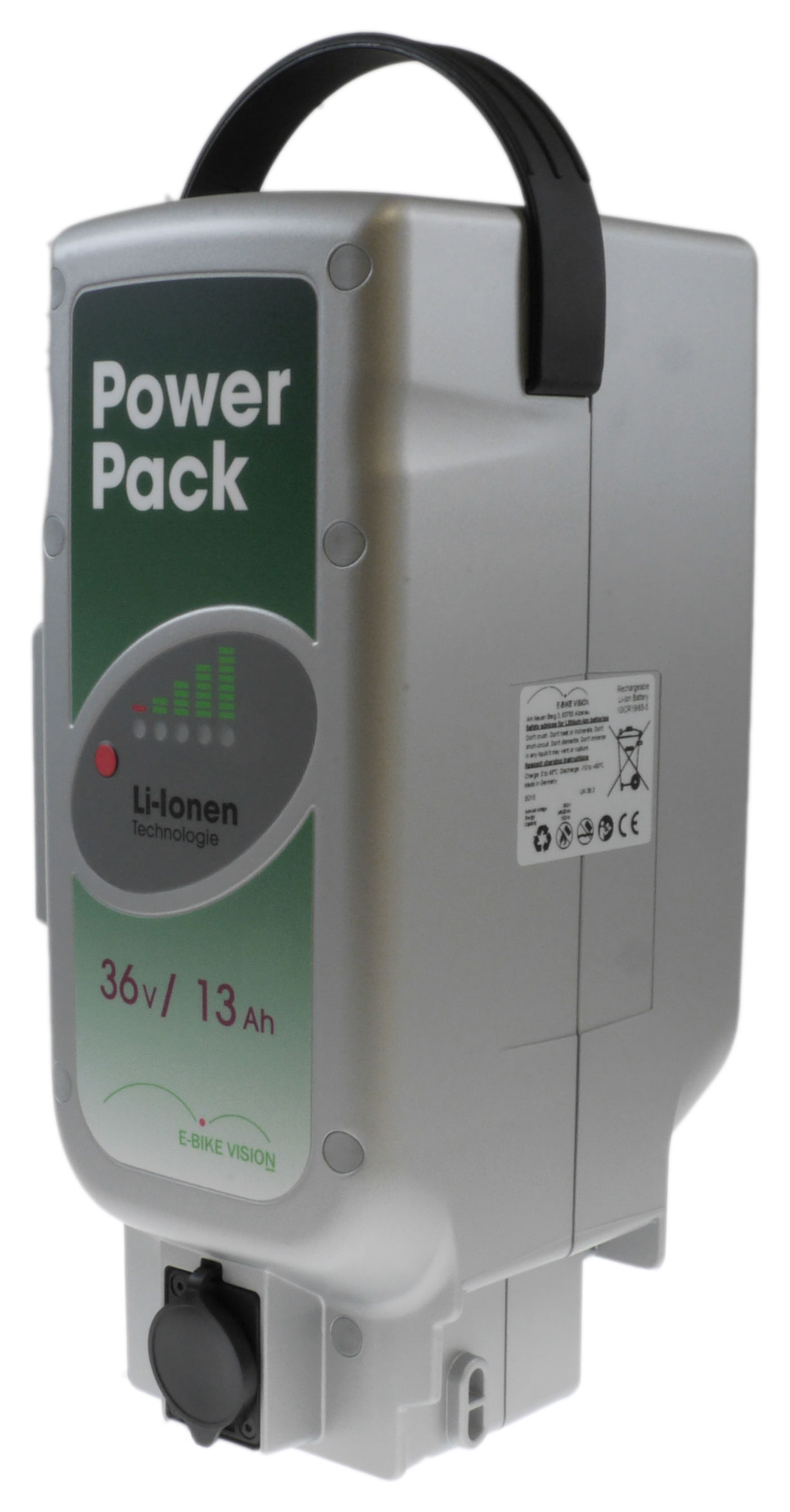Ersatzakku Power Pack Li-Ion 36V / 13Ah E-Bike mit Panasonic Antrieb Bild 2
