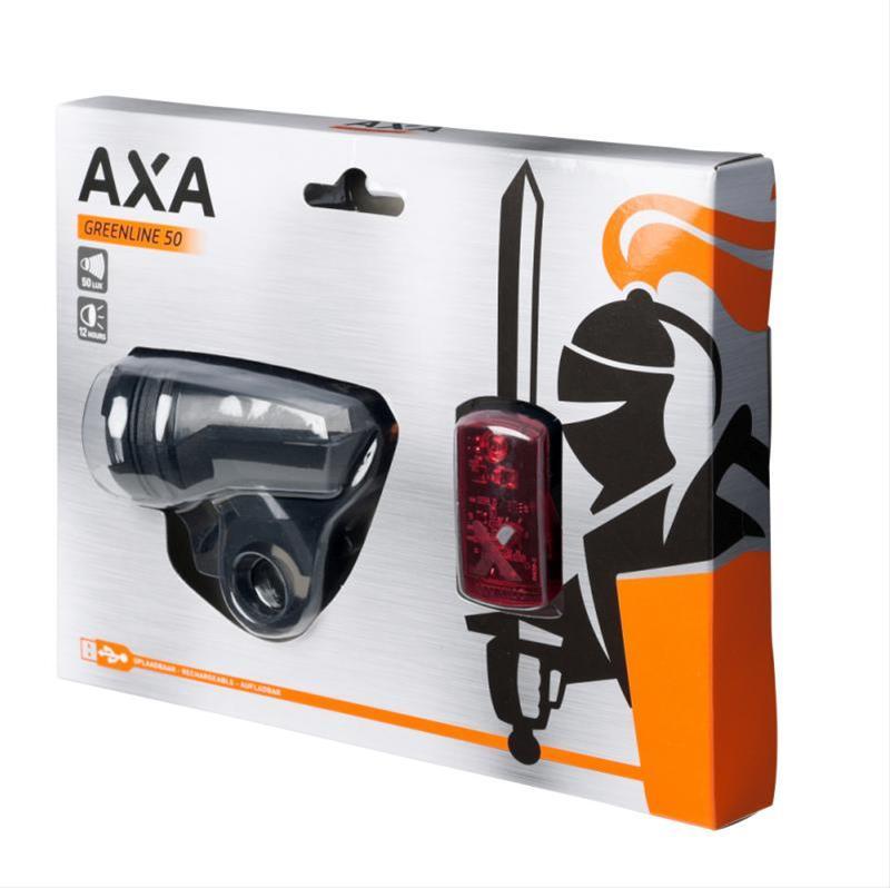 Batteriebeleuchtungsset Axa Green Line 50 Lux / 2LED Bild 1