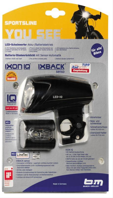 Beleuchtungsset Ixon IQ/Ix Back senso Bild 1