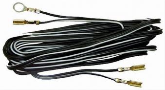 Doppellichtkabel mit Kabelschuhen schwarz Länge 2,20m Bild 1