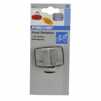 Fischer Fahrrad Reflektoren / Front-Reflektor für Vorbaubefestigung Bild 2