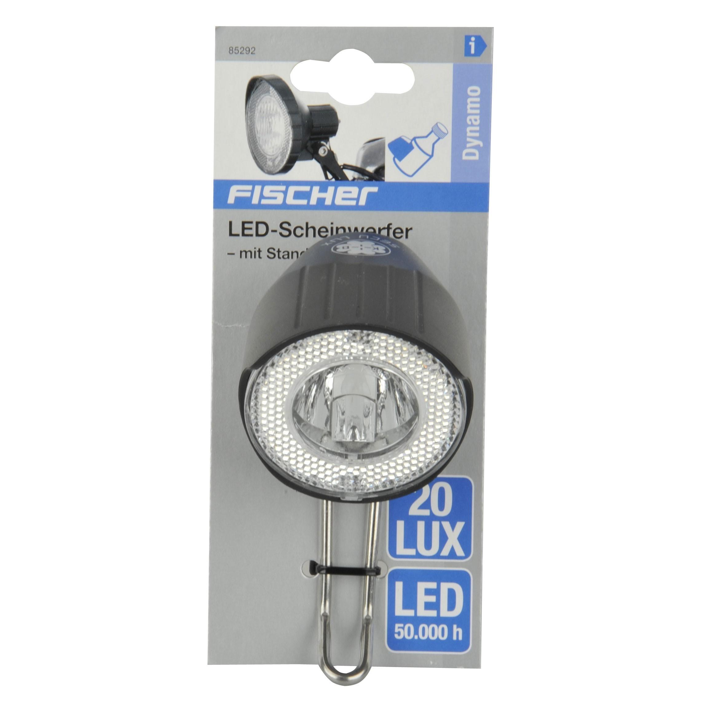 Fischer Fahrradbeleuchtung Dynamo / LED-Scheinwerfer +Standlicht 20Lux Bild 2