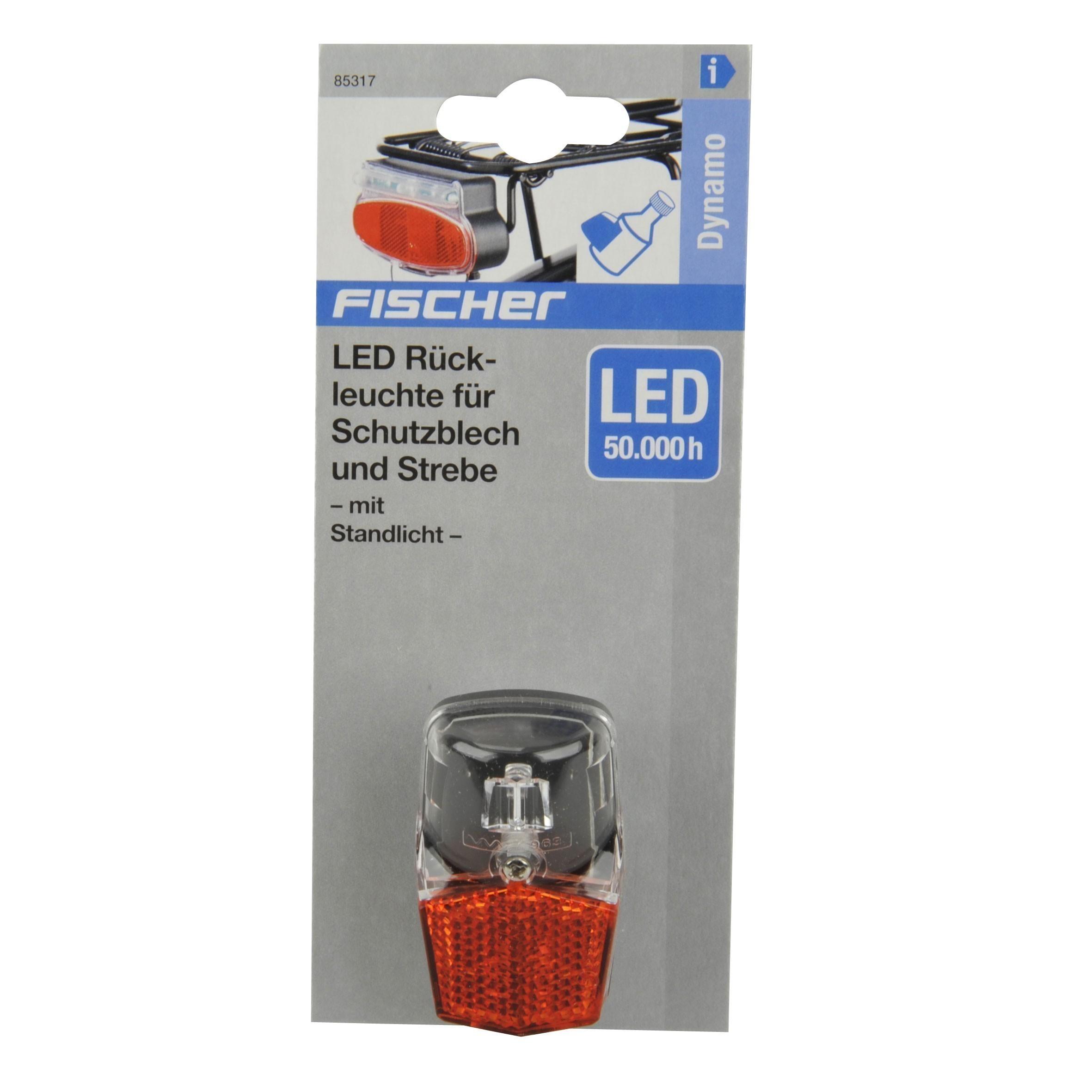 Fischer Fahrradbeleuchtung mit Dynamo / LED Rückleuchte mit Standlicht Bild 2
