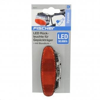 Fischer Fahrradbeleuchtung mit Dynamo LED Rückleuchte mit Z-Reflektor Bild 2