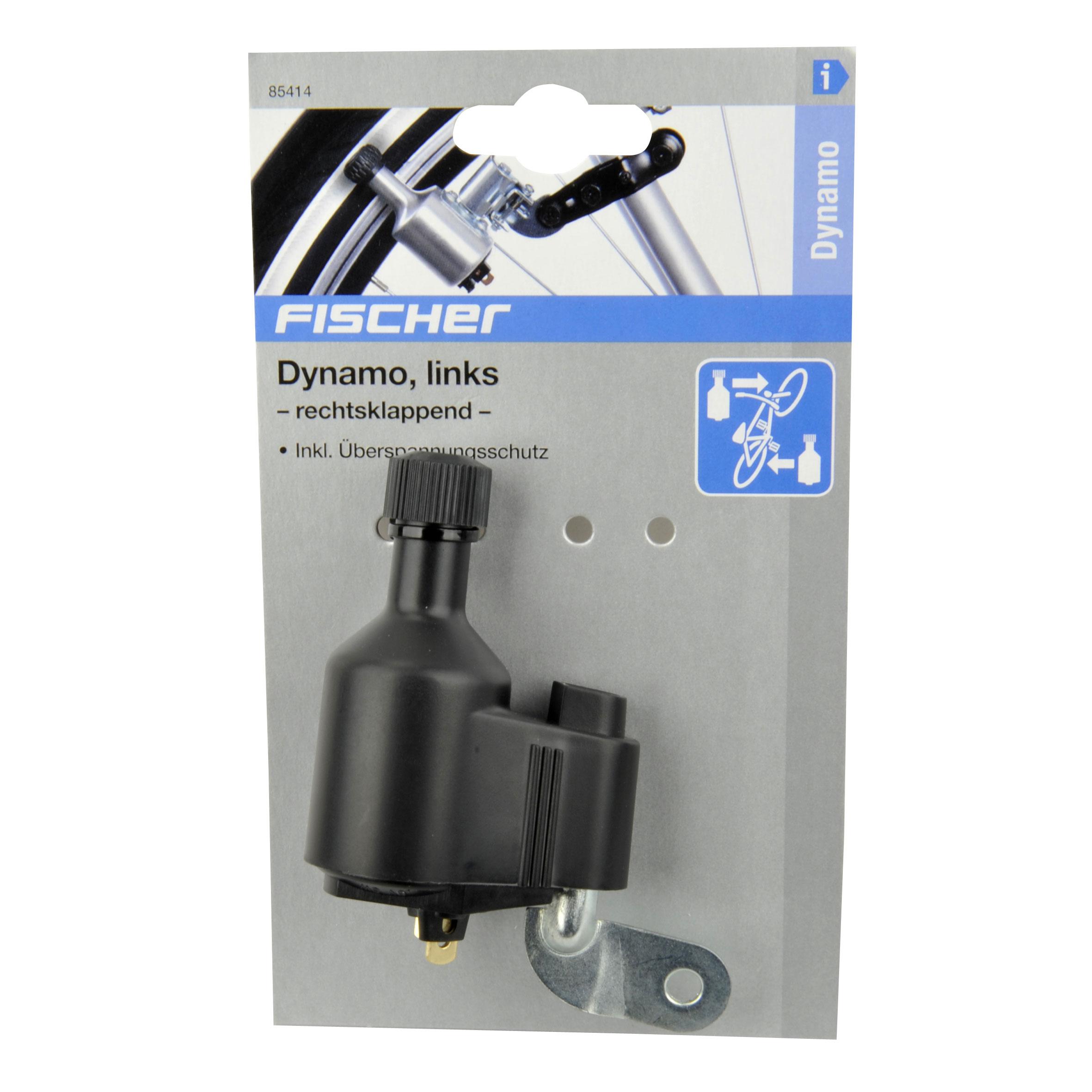 fischer fahrradbeleuchtung dynamo links 6 volt 3 watt bei. Black Bedroom Furniture Sets. Home Design Ideas