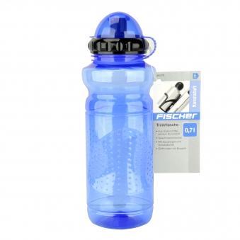 Fischer Fahrrad Trinkflasche Kunststoff blau 700ml Bild 2
