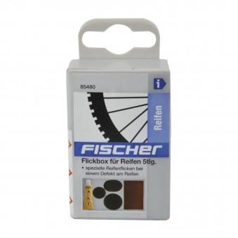 Fischer Flickzeug Fahrrad / Flickbox für Reifen 5-teilig Bild 2