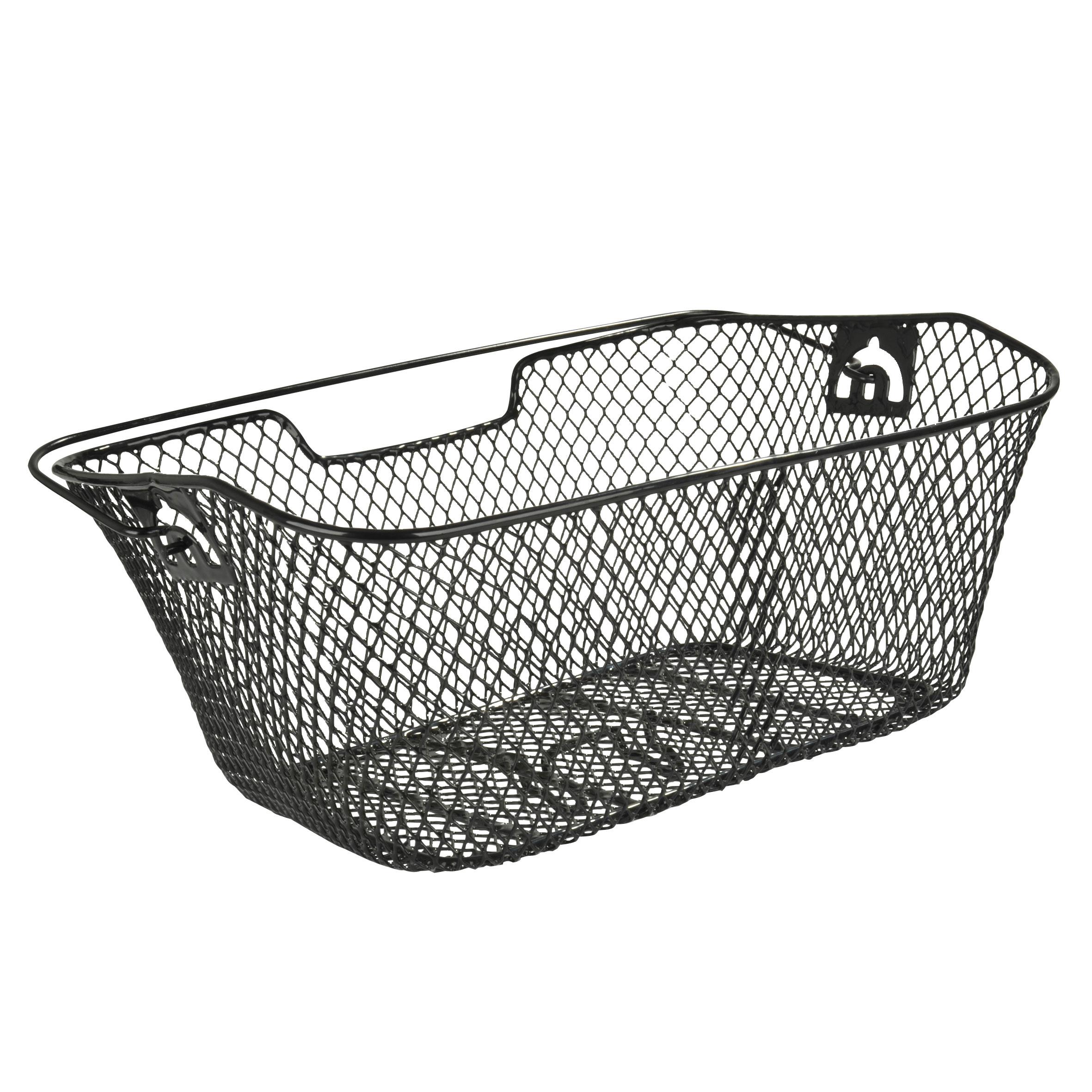 Fischer Fahrradkorb / Korb für Gepäckträger engmaschig schwarz Bild 1