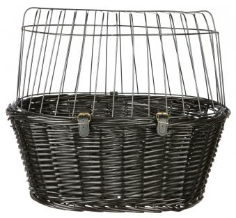 Front-Fahrradkorb für Tiere mit Gitter TRIXIE schwarz 50x35x41cm Bild 1