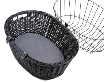 Front-Fahrradkorb für Tiere mit Gitter TRIXIE schwarz 50x35x41cm Bild 2