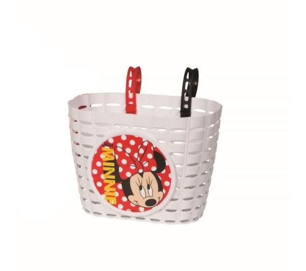 Kinder Fahrradkorb / Einkaufskorb Minnie Mouse farbig sortiert Bild 1