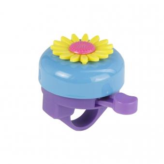 Fischer Fahrradklingel Glocke mit Kunststoffblume Bild 1
