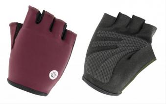 Fahrradhandschuhe / AGU Handschuhe Essential Gel Gr. L schwarz-burgund Bild 1