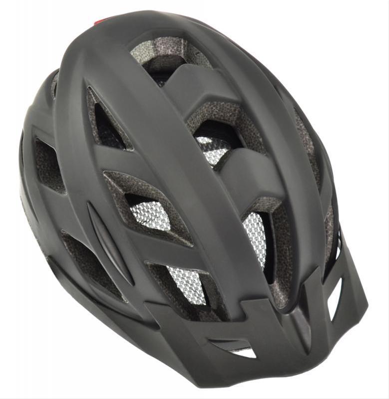 Fahrradhelm AGU Helm Cit-E mit Schirm schwarz Gr. S/M 52-58cm Bild 1