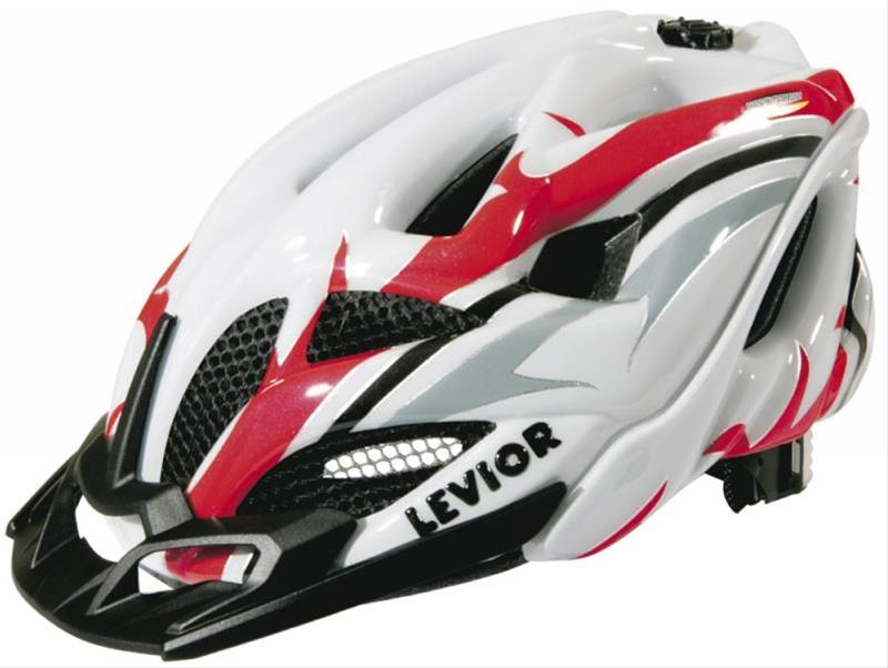Fahrradhelm Levior Helm Opus Visor weiß-rot Gr. L 56-62cm Bild 1