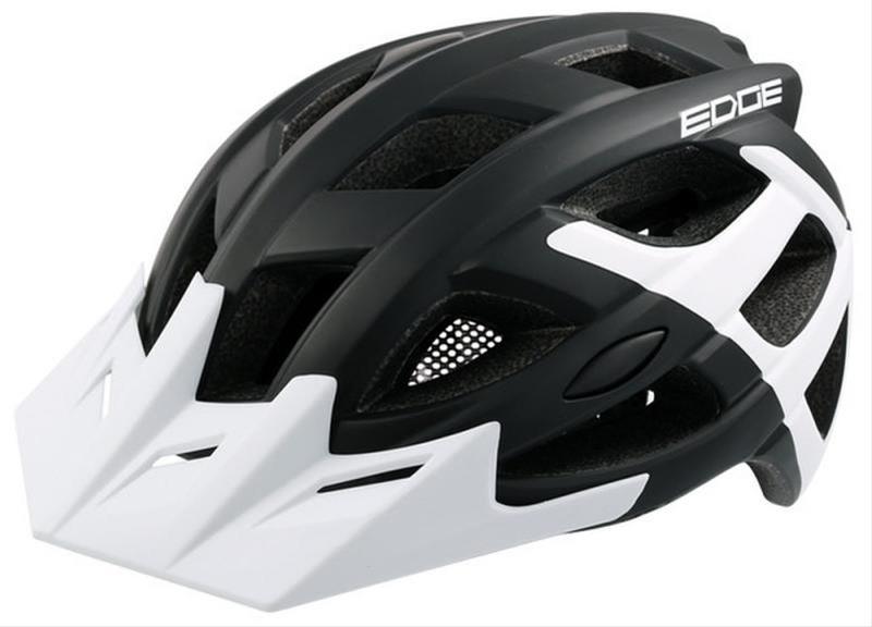 Fahrradhelm Rock Machine Helm Edge schwarz-weiß Gr. M/L 58-61cm Bild 1
