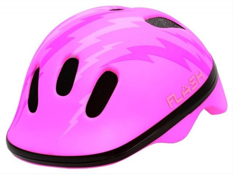 Fahrradhelm Rock Machine Helm Flash Kids pink Gr. XS 44-48 cm Bild 1