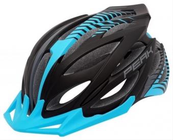 Fahrradhelm Rock Machine Helm Peak blau-weiß Gr. S/M 54-58cm Bild 1