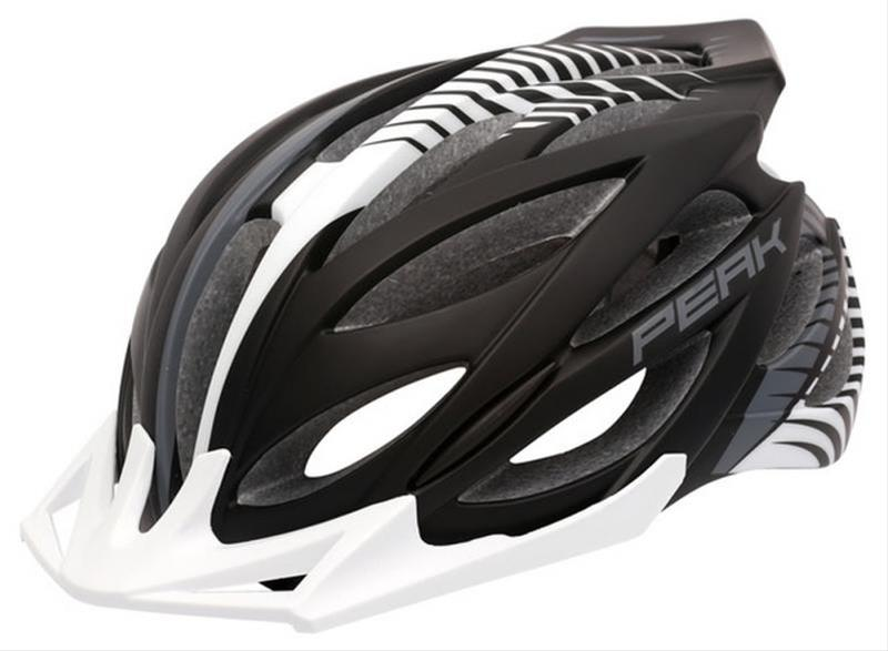 Fahrradhelm Rock Machine Helm Peak schwarz-weiß Gr. M/L 58-61cm Bild 1