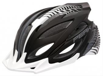 Fahrradhelm Rock Machine Helm Peak schwarz-weiß Gr. S/M 54-58cm Bild 1