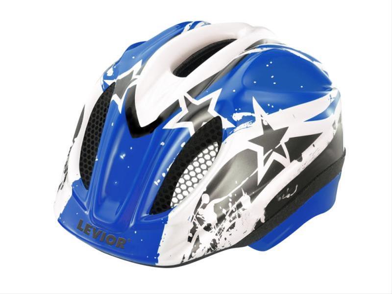 Kinderfahrradhelm Levior Primo Stars blau Gr. M 52-58cm Bild 1
