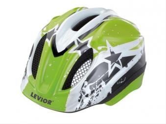 Kinderfahrradhelm Levior Primo Stars grün Gr. S 46-51cm Bild 1