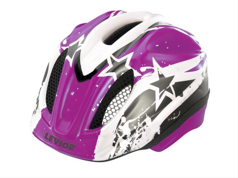 Kinderfahrradhelm Levior Primo Stars violett Gr. M 52-58cm Bild 1