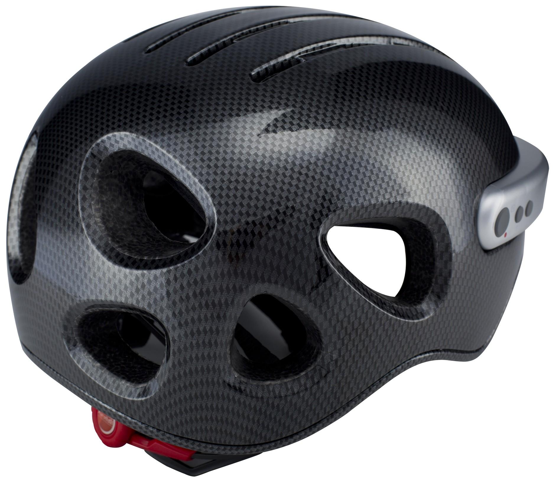 Powerpac Fahrradhelm Gr. XL 59-63cm carbon schwarz mit Kamera Bild 2