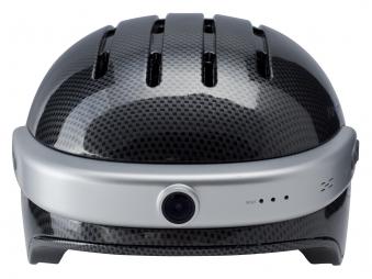 Powerpac Fahrradhelm Gr. XL 59-63cm carbon schwarz mit Kamera Bild 1