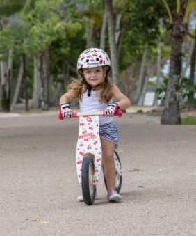 kiddimoto Fahrradhelm / Kinderhelm Größe M Cherry Bild 3