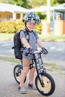 kiddimoto Fahrradhelm / Kinderhelm Größe M Pirat Bild 3