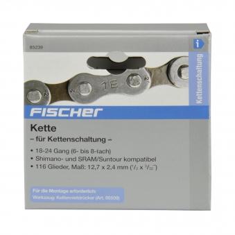 """Fischer Fahrradkette für 18-24 Gangschaltung 1/2 x 3/32"""" Bild 2"""