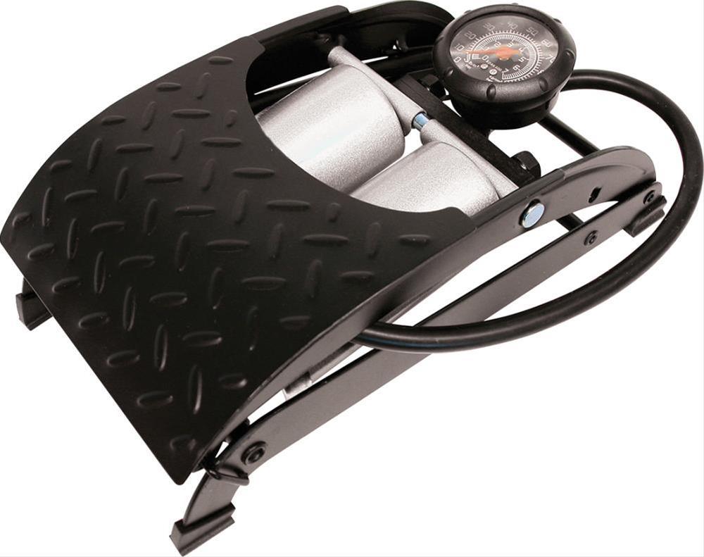 Fußluftpumpe Premium Doppelzylinder Schl. 60cm Bild 1