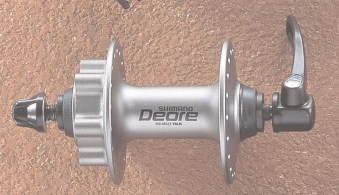 V-Radnabe Shimano Deore Scheibenbremse silber 32 Loch Bild 1