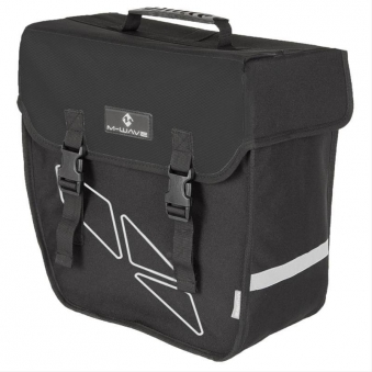 Fahrradtasche Einzeltasche M-Wave schwarz links Bild 1