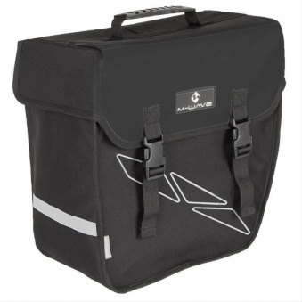 Fahrradtasche Einzeltasche M-Wave schwarz rechts Bild 1