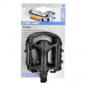 Fischer Fahrradzubehör / Pedale Kunststoffpedale MTB mit Reflektoren Bild 2