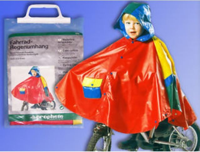 Regenumhang Regenschutz Fahrrad Kinder S 4 - 8 Jahre Bild 1