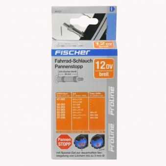 """Fischer Fahrrad Schlauch Pannenstopp Dunlop Ventil 12 1/2x1,75-2 1/4"""" Bild 2"""