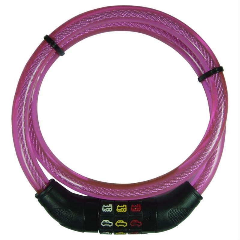 Fahrradschloss / Kinder-Kabelschloß Point pink Länge 80cm Bild 1