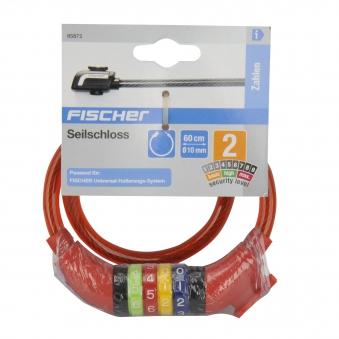 Fischer Fahrradschloss / Kinder-Seilschloss mit Zahlen Ø 10mm L 60cm Bild 2