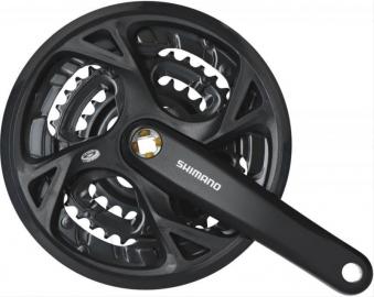 Kurbelgarnitur 'Shimano FCM371 schwarz Bild 1