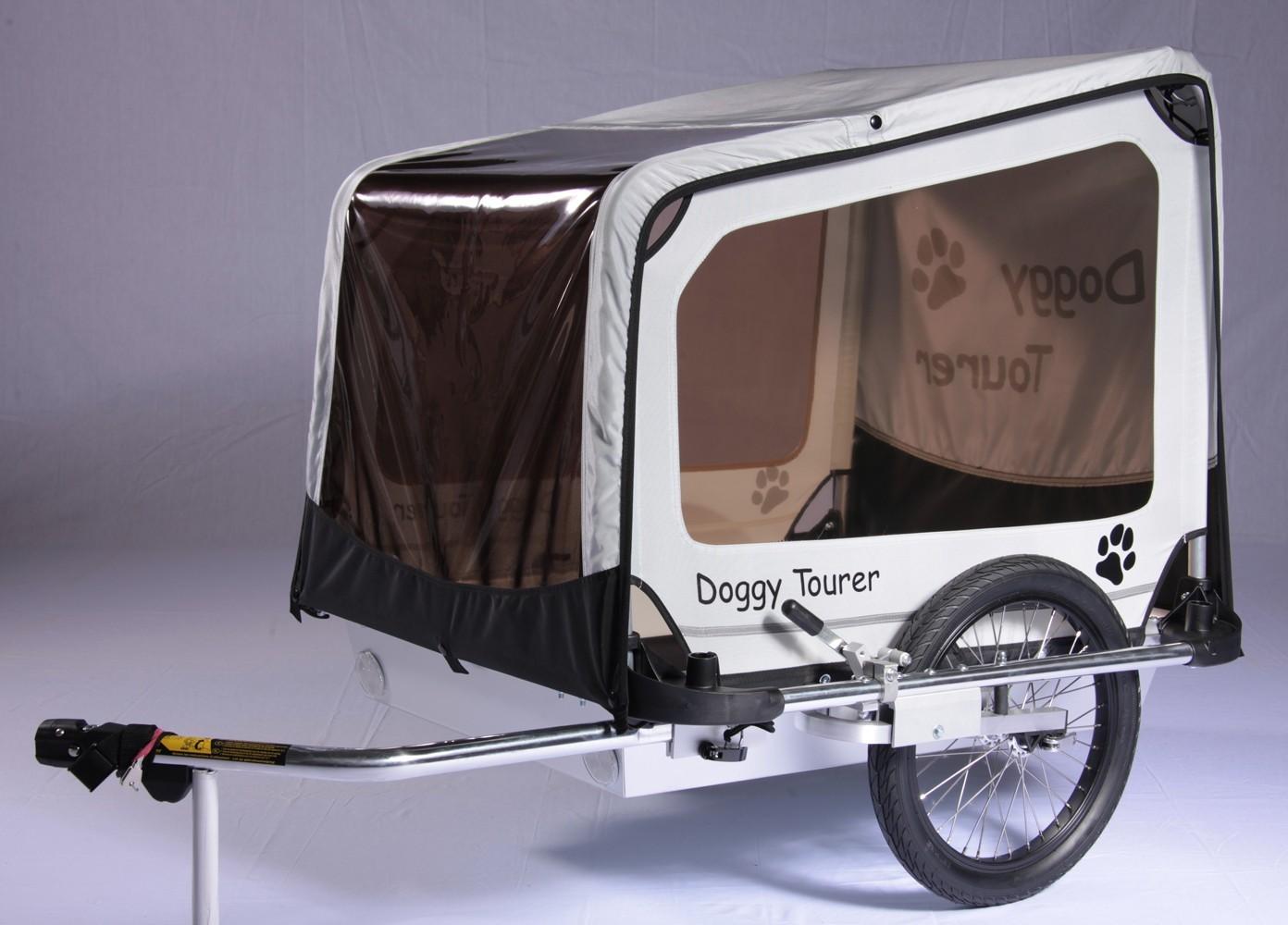 Fahrradanhänger / Hundeanhänger Kids Touring Doggy Tourer L silber Bild 2