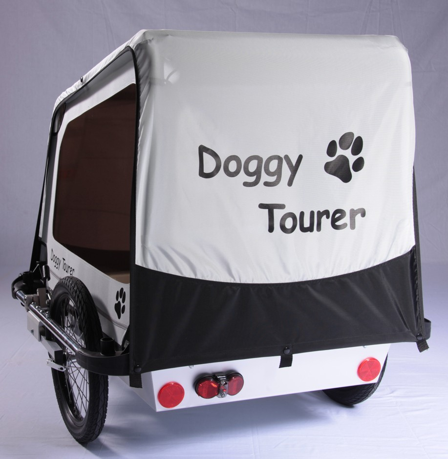 Fahrradanhänger / Hundeanhänger Kids Touring Doggy Tourer L silber Bild 3