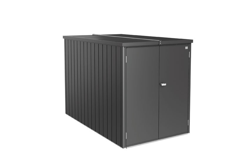 Biohort Minigarage / Gerätehaus / Fahrradgarage dunkelgrau-metallic Bild 1