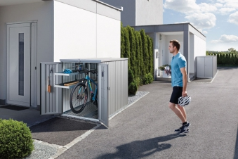 Biohort Minigarage / Gerätehaus / Fahrradgarage dunkelgrau-metallic Bild 2
