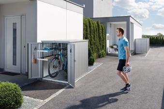 Biohort Minigarage / Gerätehaus / Fahrradgarage silber-metallic Bild 2