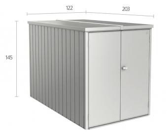 Biohort Minigarage / Gerätehaus / Fahrradgarage silber-metallic Bild 3