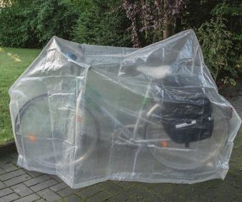 Schutzhülle Wehncke Classic für Fahrrad 230x120cm transparent Bild 1