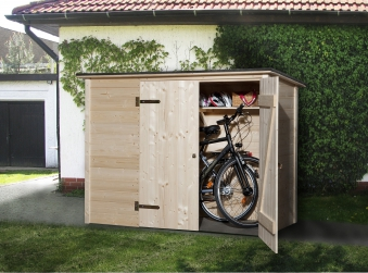 weka fahrradschuppen 19mm bike mulitbox 219x100cm bei. Black Bedroom Furniture Sets. Home Design Ideas